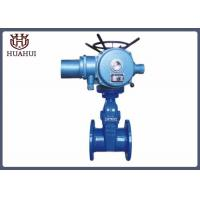 China Double Flanged Resilient Seated Gate Valve Electric Opration Blue Color Body wholesale