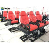 China Vibration 3 Seats Movie Theater Chair 5D Red Colour 3 DOF Platform wholesale