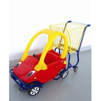 China Durable Grocery  Kids Shopping Carts Metal Frame Plastic Colorful With Seat on sale