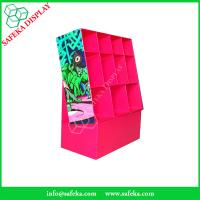 China Customized  printed Promotion Rack advertising shelf Cardboard clothing display racks with pockets wholesale