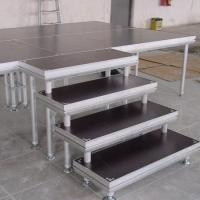 China stage stair have good stability made by aluminum tube and 18mm plywood wholesale