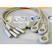 China 5 Leads Snap ECG Monitor Cable Leadwires , Compatible Din Style ECG Truck Cable wholesale