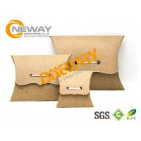 China Small PMS Color Recycled Kraft Paper Pillow Boxes Wholesale , Custom Printed Boxes wholesale
