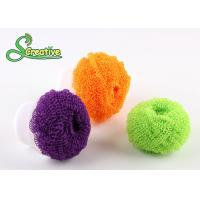 China Spiral wire plastic scourer fiber ball for kitchen washing/bathroom cleaning wholesale