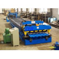 China Galvanized Step Glazed Tile Roll Forming Machine Electric Motor 0.40-0.70 mm Sheet Thickness wholesale