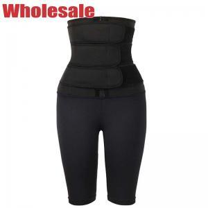 China Three Belts SBR Waist Trainer Leggings Zipper Waist Training Leggings wholesale