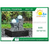 Wholesale Carved Granite backyard Water Fountains Glass Crystal Balls For Decoration from china suppliers
