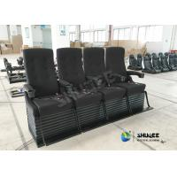 China Special Effect Custom 4D Movie Theater Motion 4D Chairs Red / Black For Shopping Mall wholesale