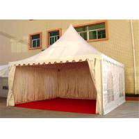China 4M * 4M Pagoda Shape Event Tent With 80-100km/h With Wooden Floor wholesale