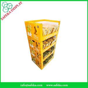 China Portable shelves corrugated merchandise display shelf cardboard stackable display case for socks wholesale