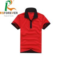 Buy cheap Fashion Blank Polo Collar Shirts Knitted Fabric Type Breathable & Quick Dry from wholesalers