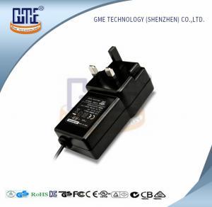 China Black Switching Adapter 12v , GME Power Adapter UK Plug 47Hz - 63Hz wholesale