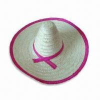 China Mexican Hat, Made of Natural Grass, Suitable for Parties, Available in Various Designs wholesale