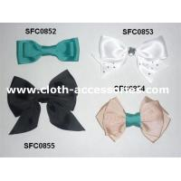 China Bowknot Green Fabric Flower Corsage Prom Gross Grain For Teenage Hair Bows wholesale