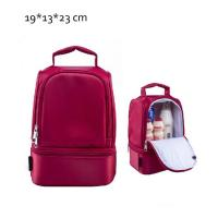 Quality Red Childrens Lunch Bags /  Insulated Lunch Bags For Kids Doube Layers for sale