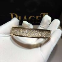 China BVLGARI  brand  jewelry BVLGARI full  diamonds bracelet in 18 kt pink gold  Also available in white and yellow gold wholesale