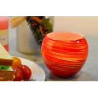 China Colorful Glass Candle Holder for Wedding Decor , Red Yellow Color Material Mixed Planet wholesale
