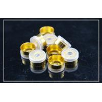 China gold anodized tear off Flip Off Caps for cosmetics , D13.5mm×H6.5mm wholesale