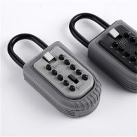 China Economic 10 Push Button Metal Key Lock Box Portable With Light Grey Cap wholesale