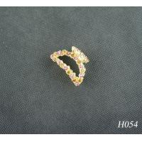 China Unisex Jeweled Hair Accessories Fashion Plated Gold Handmade Hairpin Jewellery wholesale