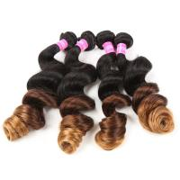 Wholesale Blonde 3 Tone Remy Ombre Hair Extensions Brazilian Hair Loose Wave 1b / 4 / 27 from china suppliers