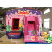China Kids Pink Princess Castle Inflatable Jumping Castle With Slide wholesale