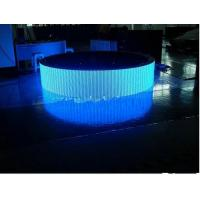 Quality P7.62 Curved LED Screen 1R1G1B For Video / Photo / Message Advertising for sale