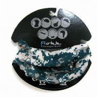 China Multifunctional Bandana with Strong Stretchy and Seamless , Made of 100% Polyester Microfiber wholesale