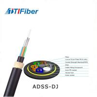 China Lightweight Fiber Optic Network Cable 24 48 Core ADSS Outdoor Aerial Low Friction Sheath on sale