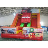 China Party Game Equipment Inflatable Dry Slide Super Car Shaped 0.55m PVC For Kids wholesale