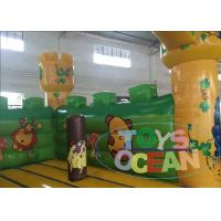 Quality Big Party Indoor Playground With Bouncy Castle Amazing Animal Zoo 0.55PVC for sale