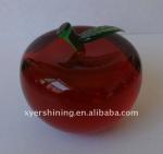 China Christmas gifts crystal apple wholesale