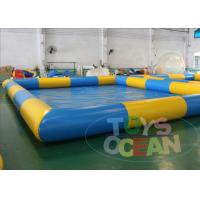 China 10x8m Giant Inflatable Square Water Pool Swimming Water Toys 0.9 PVC wholesale