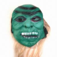 China Green EVA Ghost Mask, with Polyester Cloth and Artificial Hair wholesale