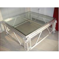 China Transparent Plexiglass Temporary Stage Platforms Square Fireproof Long Span on sale
