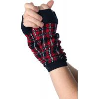 China Red / Green + Black Knitted Arm Warmer , Women