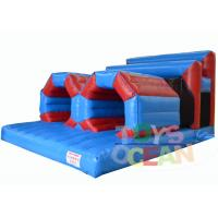 Quality Extreme Rush Inflatable Obstacle Course With Crawling Tube Sports Waterproof for sale