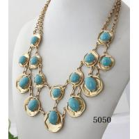 China Fashion jewelry antique bronze necklace with eco-friendly material for women wholesale