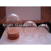 China Clear Ball shape glass lamp shade with wooden lid wholesale