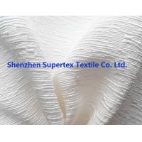 China Solid Dyed  Silk Cotton Rayon Jacquard Fabric For Shirts Dress Off White Color And Prints wholesale