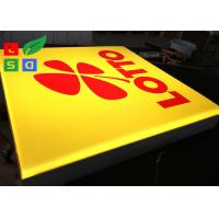 China Wall Mounted LED Outdoor Light Box , Silk Screen Printed Logo LED Advertising Signs wholesale
