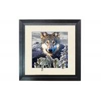 China 5D Effect Wolf 3D Lenticular Photo Printing For House Decoration MDF Frame wholesale