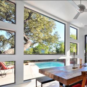 China Large glass luxury fixed glass aluminum window wholesale