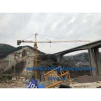China QTZ6513 Top Slewing Tower Crane Free Height 45meters 2.5m Mast Section wholesale