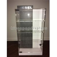 China Counter Top Acrylic Display Case Metal Base Watch Display Units Double Sided on sale