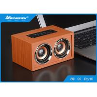 China Brown Full Wooden Wireless Speakers Blutooth V3.0+ EDR With TF Card wholesale
