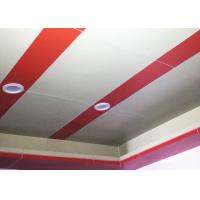 China Red PVDF Aluminum Composite Panel 3mm / 4mm Aluminium Sheet AAMA260502 wholesale