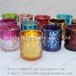 China hot sale decorative tea light glass candle holder supply wholesale