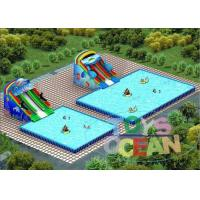 China Large Amazing Inflatable Water Park  Colored Commercial For Swimming Pool wholesale