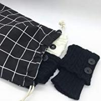 black clothing drawstring storage bag